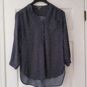 Market & Spruce 3/4 sleeve polka dot blouse